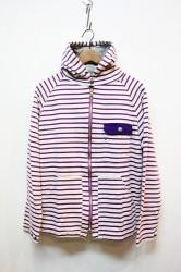 ★SALE70★ 「DE-NA-RI」 BORDER PARKA -purple-
