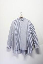 「maillot」sunset twin big shirt -stripe-