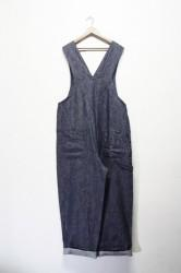 「maillot」linen denim overall (men)