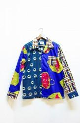 「ReAdd」waxprint crazy shirts Mサイズ (mens)