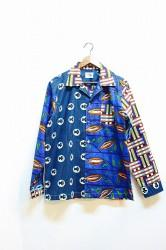 「ReAdd」waxprint crazy shirts Lサイズ (mens)