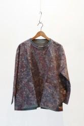 「ARIGATO FAKKYU」 wide pull over -paisley-