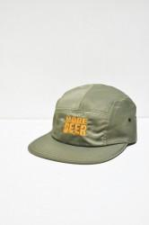 「MORE BEER」classic logo MA-1 cap -olive-