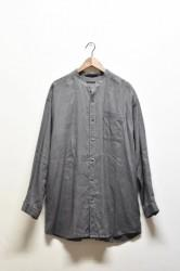 「YOHAKU」linen big shirts -gray- (men&lady)