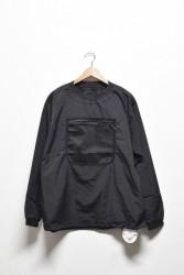 「BURLAP OUTFITTER」L/S mesh pocket T -black- (men)