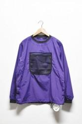 「BURLAP OUTFITTER」L/S mesh pocket T -purple- (men)