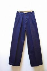 「KAFIKA」 CHINO WIDE TROUSERS -navy- (mens)