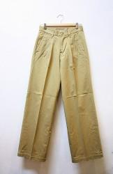 「KAFIKA」 CHINO WIDE TROUSERS -beige- (mens)