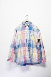 「spinner bait navy label」pullover big shirts -ylw-