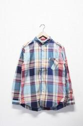 「spinner bait navy label」tab collar shirts -navy-