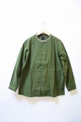 「maillot」 military cloth snap cardigan (men&lady)