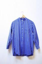 「maillot」 wide stripe stand long shirts (ladys)