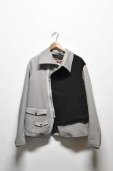「Leh」zip top jacket -gray- (men)