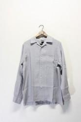 「maillot」linen open shirts -gray- (men)