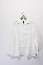 「maillot」linen open shirts -white- (men)