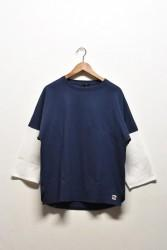「modem design」 USA jersey crewneck -navy-
