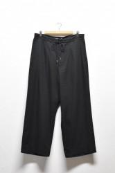 「amne」drapey trouser -black-