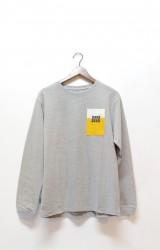 ★40%OFF★「JAVARA」 MORE BEER PKT L/S TEE -gray