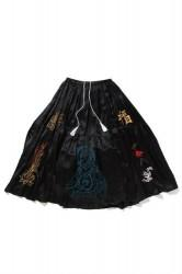 「Leh」polytheism embroidery skirt -silk- (lady)