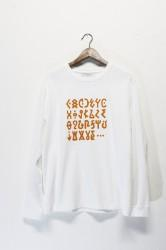 「Laugh&Be」 discovery L/S tee -white- (men)