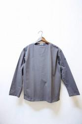 「maillot」 ultra peach boat shirt -gray- (men&lady)