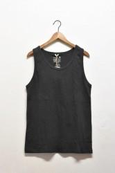 「GO HEMP」fineday tanktop -gunmetal- (men&lady)