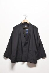 「AXESQUIN」easy hanten cardigan -black- (men)