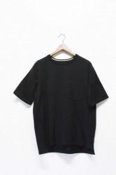「RoToTo」dozme silket s/s knit -black- (men)