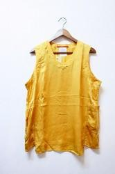 「Leh」 Silk no-sleeve top -gold- (mens&ladys)