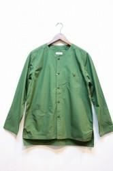 ★SALE★「usefull」NO COLLER LAZY SHIRTS JACKET-olv- M