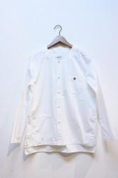 ★SALE★「usefull」NO COLLER LAZY SHIRTS JACKET-wht- L