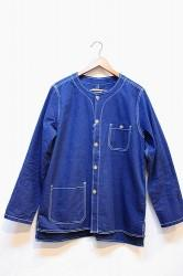 ★SALE★「usefull」NO COLLER LAZY SHIRTS JACKET-ind- M