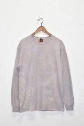 「JAVARA」marble L/S tee -purple/brown- (men)