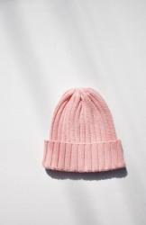 「DISCE GAUDERE」cotton rib watch cap -pink-