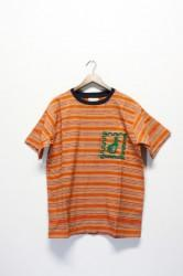 「time will tell works」s/s pocket tee -orang- (men)
