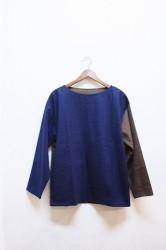 「chillt」boatneck pullover -navy/brown- (men&lady)
