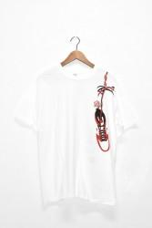 "「o.k.」""AJ-1 with rose"" s/s tee -white-"
