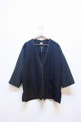 ★SALE40%OFF★「norah」haori shirt -black- Lサイズ (men)