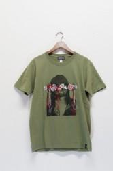 「QUOLT」embroidery tee -khaki- (men&lady)