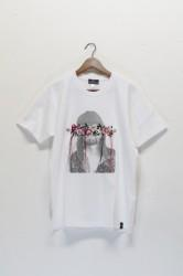 「QUOLT」embroidery tee -white- (men&lady)