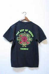 「TACOMA FUJI RECORDS×SIMS」The Art Of Riding Tee bk