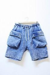「NATAL DESIGN x SIMS 」 Denim Sweat Shorts Lサイズ