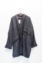 「leh」raw silk haori -black- (men&lady)