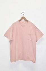 「good wear」s/s pocket tee big -graysh pink- (men)