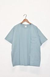 「good wear」s/s pocket tee big -smoky aqua- (men)