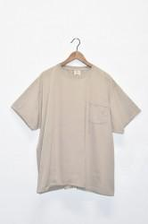 「good wear」s/s pocket tee big -graysh beige- (men)
