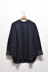 「hunch」stand switch tunic -black- (lady)