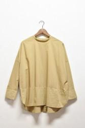 「hunch」stand switch tunic -beige- (lady)