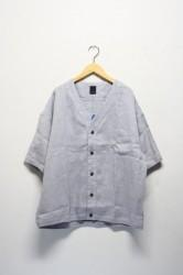 「maillot」linen s/s cardigan -ice gray- (men&lady)