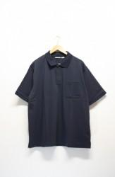 「BURLAP OUTFITTER」B.B polo -navy- (men)